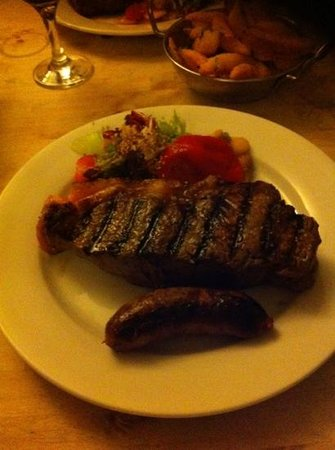 Buen Ayre: my 16oz sirloin and chorizo