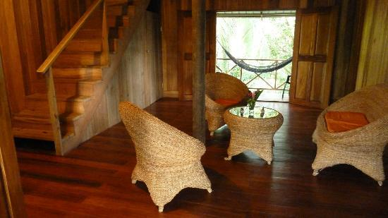 ‪‪Punta Rica Beach & Jungle Villa‬: Punta Rica Suite - living area