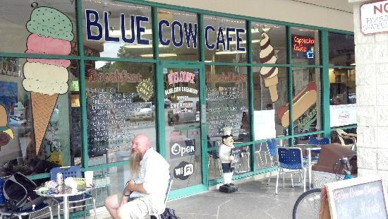 Blue Cow Cafe & Ice Cream Shoppe: The front of our shop