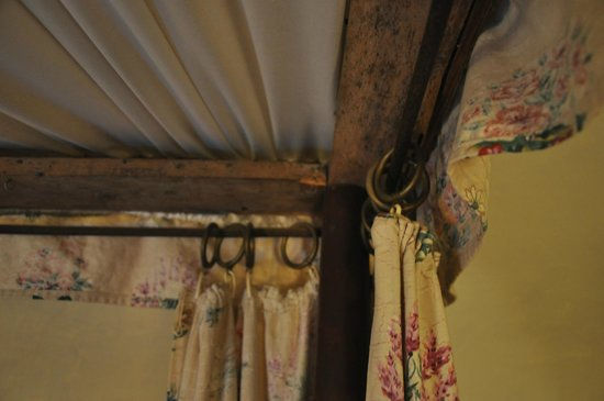 Llanthony Priory  Hotel: Old mouldy wood, hobbled together