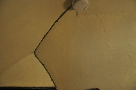Llanthony Priory  Hotel: No disguising the wiring, nothing to give aesthetics to the place 