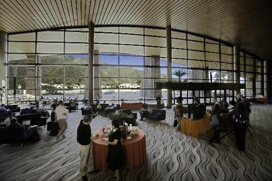 Palm Springs Convention Center: Stunning mountain views from the lobby of the Convention Center