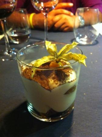 El Bestiari: tiramisu with marron glace. love it.