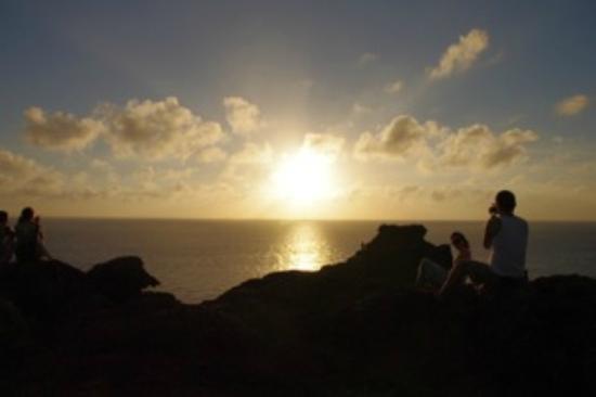 Kannonzaki Lighthouse : 日没を待つ