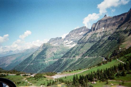 Going To The Sun Road View At The Garden Wall July 2012 Picture Of Glacier National Park