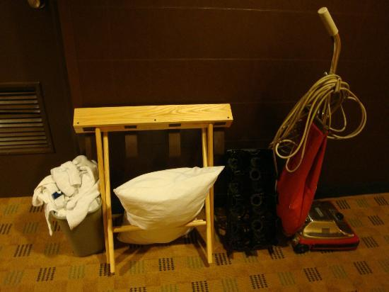 Supplies left in hall outside of