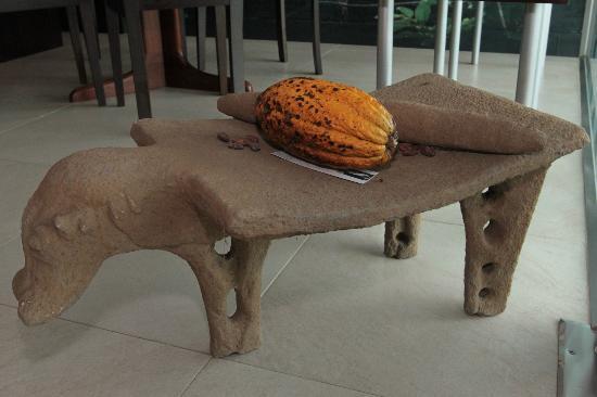 Chocolate Nahua: Réplica de metate ceremonial