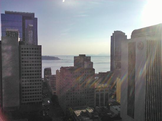 Inn at the WAC: View of Puget Sound from the 19th floor.