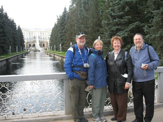 Dancing Bear Tours - Day Tours : St Petersburg Tours - Central fountains in Peterhof