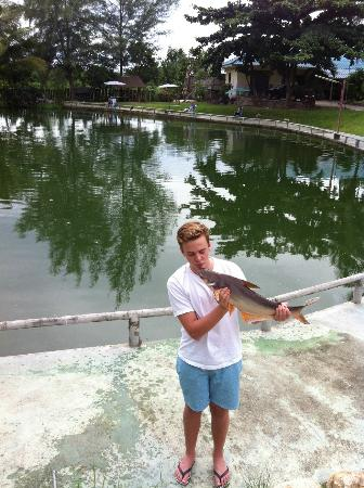 Hua Hin Fishing Lodge: Back he goes