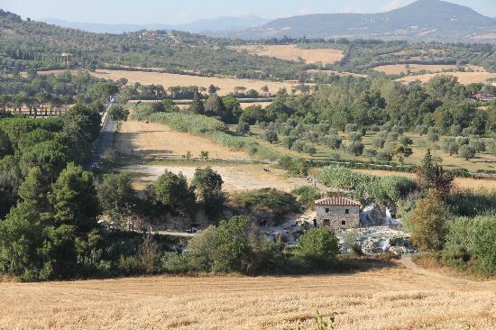 Saturnia, Italy: Vista vallata