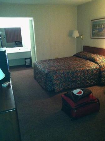 Red Carpet Inn Louisville : View walking into room