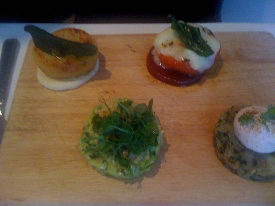 Harrisons Bistro: Selection of vegetarian options