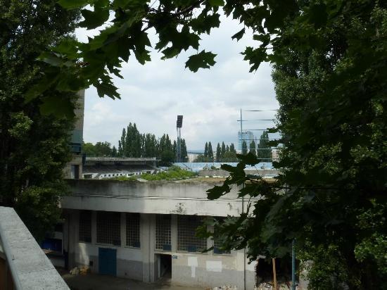 Hotel Set: View from balcony of olld stadium of Slovan Bratislava