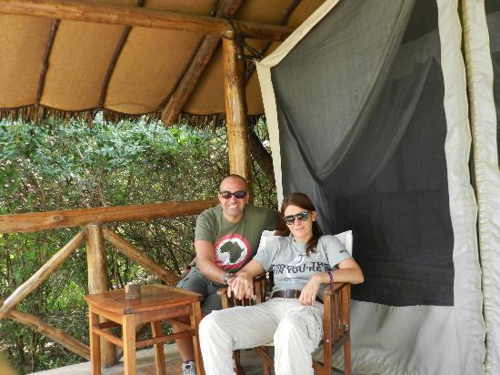 Fig Tree Camp: l'ingresso della nostra tenda