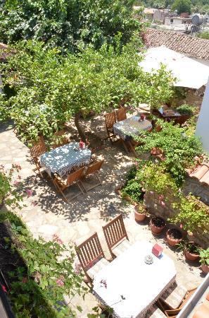 Hotel Nilya: Courtyard dining area