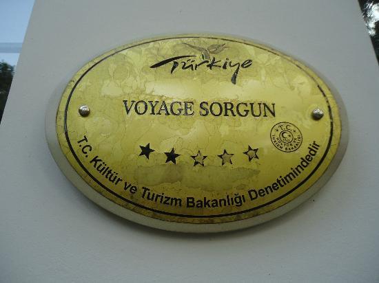 Voyage Sorgun : 5 Star or 2
