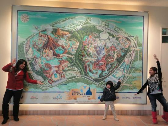 Cool Disney Map inside Ikpiari Disney Monorail Station - Picture of ...