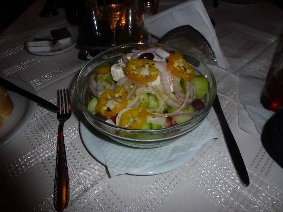 Mandalena Restaurnat : feta salad, lovely.