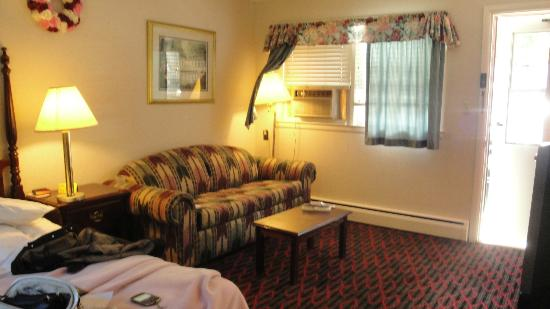 Perry's Motel & Cottages: sitting area/queen size pull out
