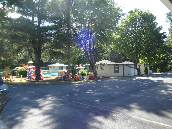 Perry's Motel & Cottages: pool and kiddies area