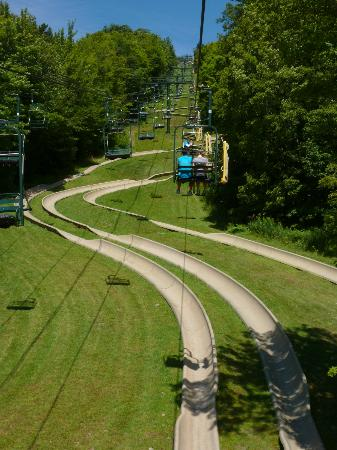 Bromley Mountain: Chairlift to Alpine Slide