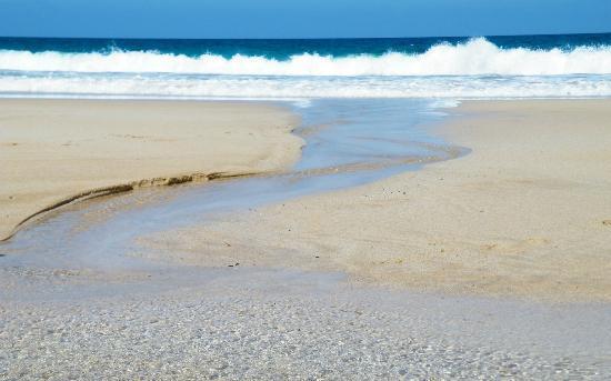 Lagunas y Playa de El Cotillo: El Cotillo, south, at low tide