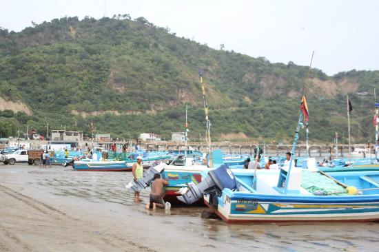 Hotel Pacífico: the bay, busy with fishermen in the morning
