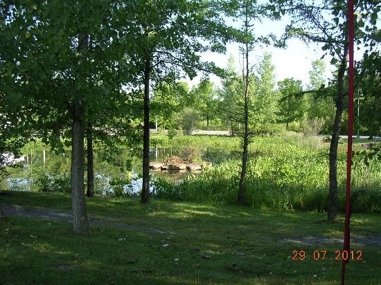 The Hotel at Turning Stone Resort: View of the pond from our site