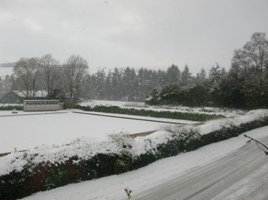 Queensberry House: Beechgrove Bowling Green in the snow