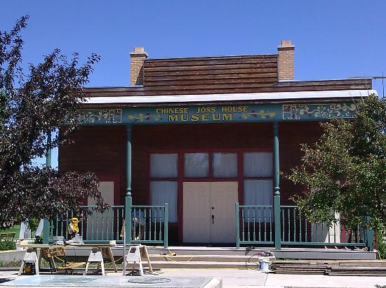 Evanston, WY: Entrance to the Joss House (was closed for construction)
