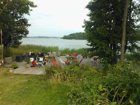 Bockholmen Hav & Restaurang: View of the water and Love Buffet area.