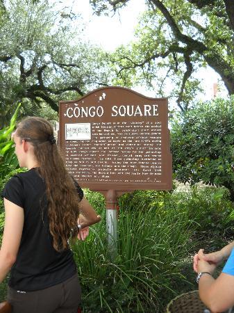 Big Easy Bike Tours : Congo Square.