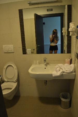 Hotel Artis: Bathroom on the last day