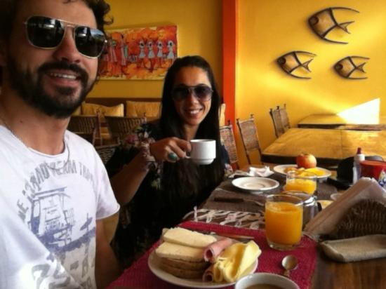 Pousada O Pescador: Desayunando!!