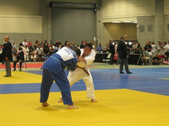 Spokane Convention Center: Interior of the center, setup for judo