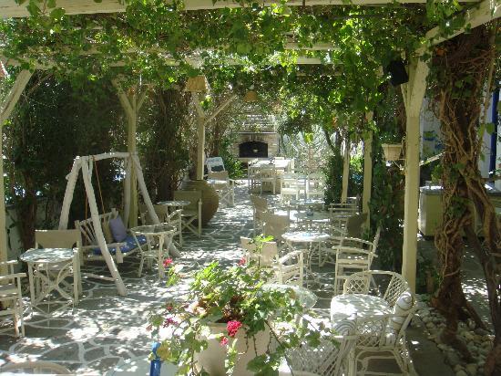 Afrodite Boutique Hotel: Garden area