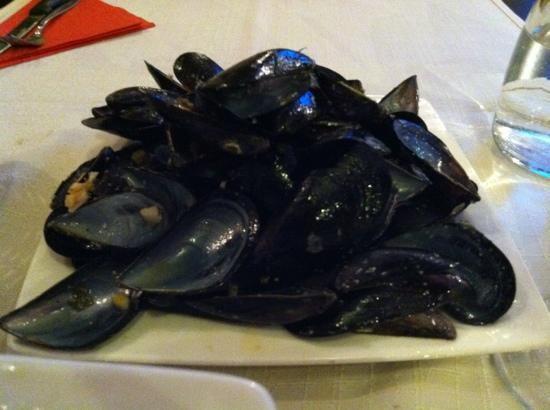 Konoba pizzeria Notturno: like 3 lbs of mussels, totally yummy and demolished.