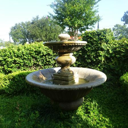 Inn at Mulberry Grove: The fountain on patio area