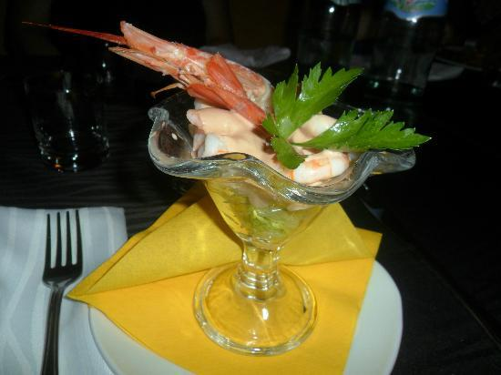 Mediterraneo Restaurant: cocktail di gamberi