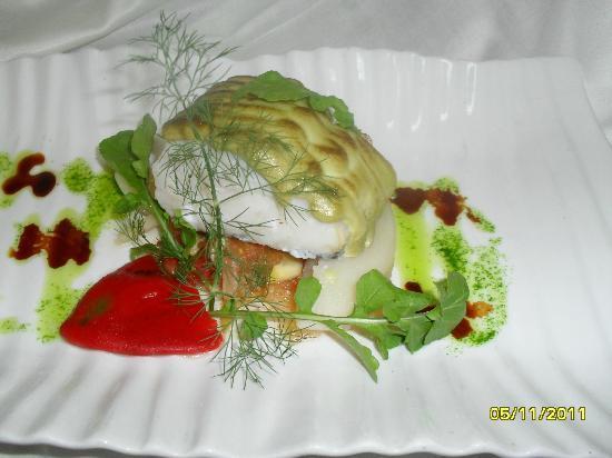El Salsete: Lomo de Bacalao gratinado con crema de berros