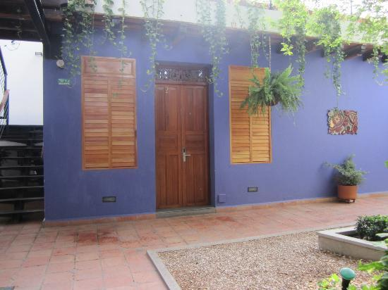 Casa de Isabella - a Kali Hotel: The door to room #2. Small, but clean and cozy.