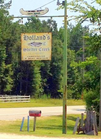 Holland's Shelter Creek: look for the sign on Highway 53
