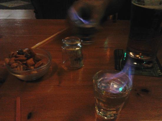 Love Boat Bar: flaming shots at the love boat