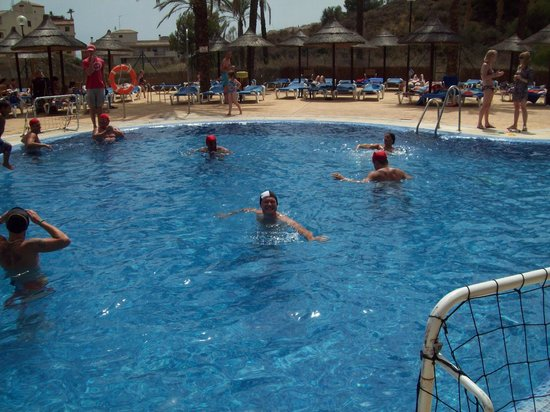 Holiday Palace: Waterpolo. It didnt get much busier than this.