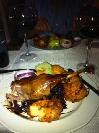 Aranybarany : Goose leg and potato dumplings