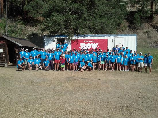 ROW Adventures: Our entire group of Raft for the Cure