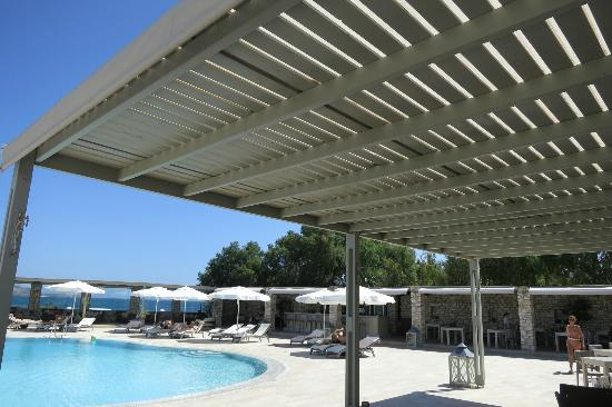 Saint Andrea Seaside Resort: Hotel rim-flow pool with sea view and wind protection