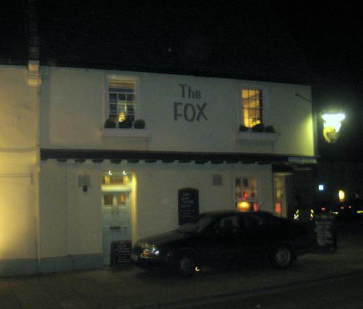 The Fox Inn: The Fox by night.
