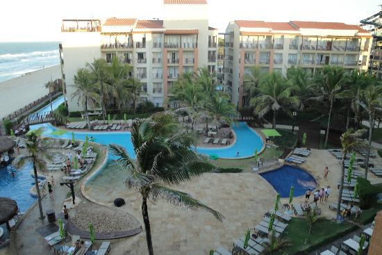 Acqua Beach Park Resort: Vista da área de piscinas do hotel